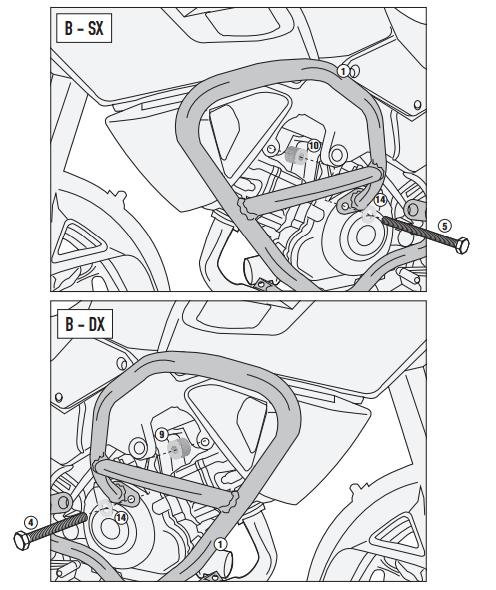 GIVI TN3105 SUZUKI DL 1000 V-STROM (14-17) KORUMA DEMIRI
