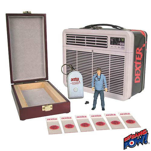 San Diego Comic-Con 2013: First Look at Bif Bang Pow's SDCC Exclusive Dexter 3-3/4-Inch Figure in Tin Tote