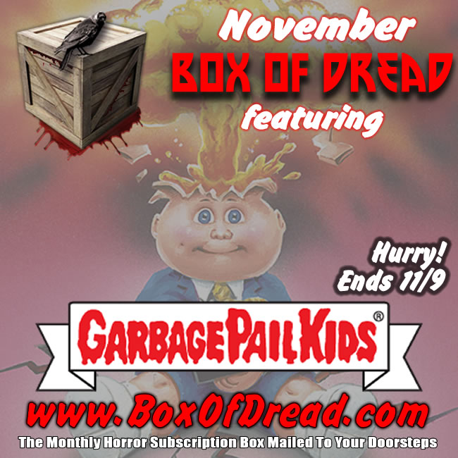 Garbage Pail Kids in Box of Dread
