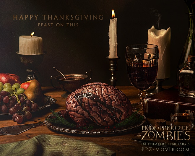 Pride and Prejudice and Zombies Thanksgiving