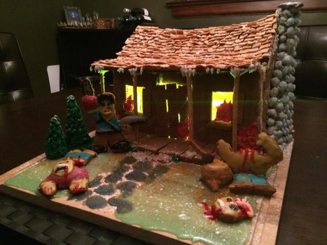 Evil Dead Cabin 5 - Evil Dead Gingerbread Cabin Is Deliciously Evil