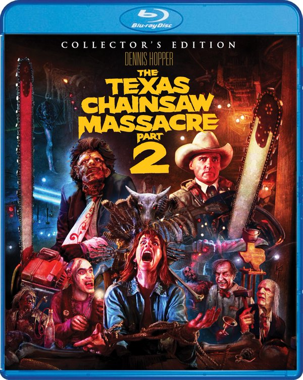 tcm2 blu ray - Scream Factory Unveils Texas Chainsaw Massacre Part 2 Artwork and Release Date