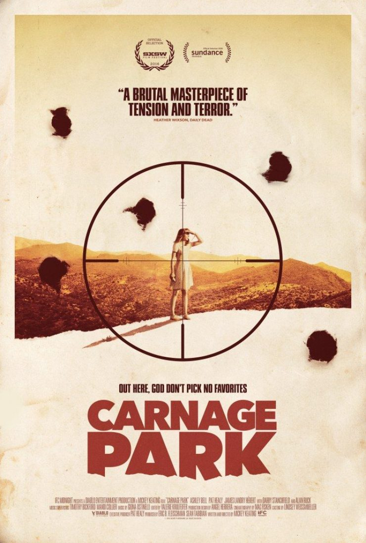 carnage park poster 691x1024 - New Carnage Park Poster Sets Sights on Ashley Bell
