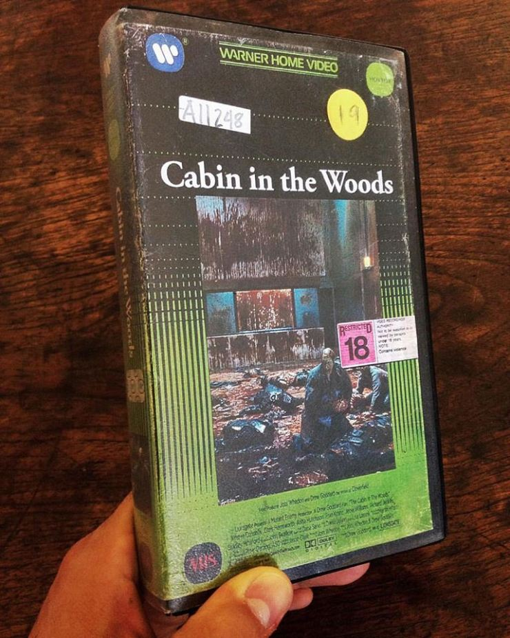 vhs-cabin in the woods