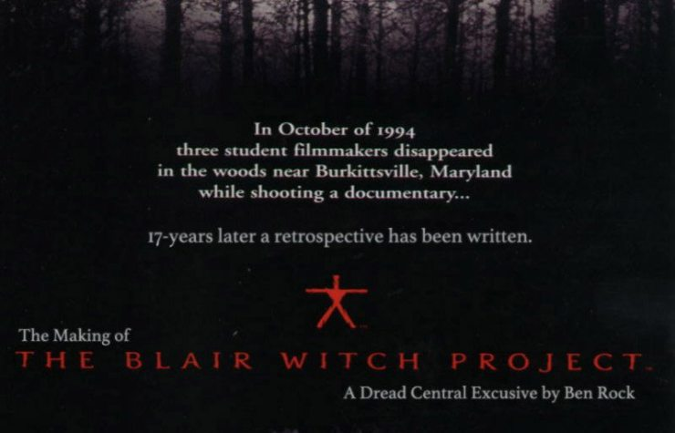 blair witch making - The Making of The Blair Witch Project Part 4: Charge of the Twig Brigade