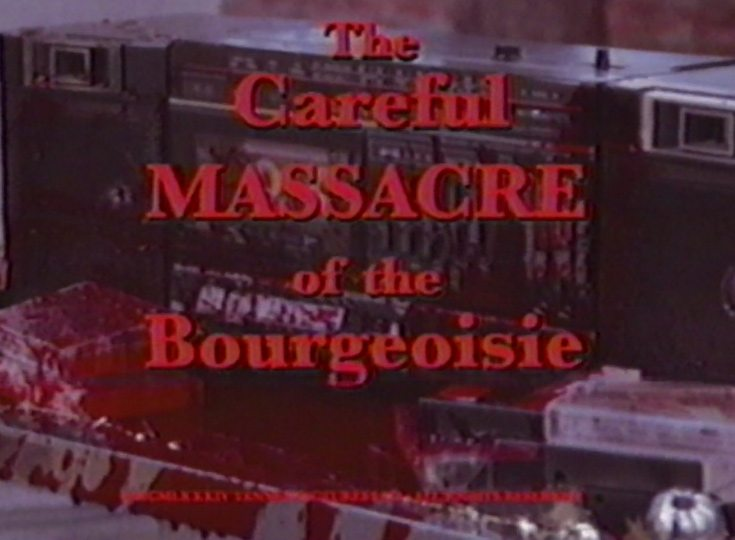 careful massacre of the bourgeoisie5 - Mr. Robot Creators Release 8-Minute 80s VHS Slasher!