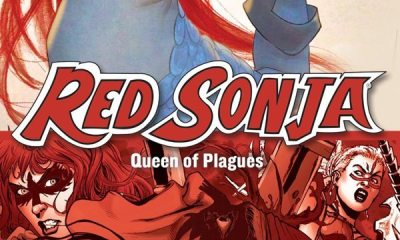 redsonja queenofplagues dvd s - #SDCC16: Full-Length Animated Red Sonja: Queen of Plagues Feature Arriving August 2nd