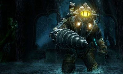 bioshock big daddy underwater illustration 1 - Gamescom 2016: Stunning BioShock Remastered Comparison Trailer