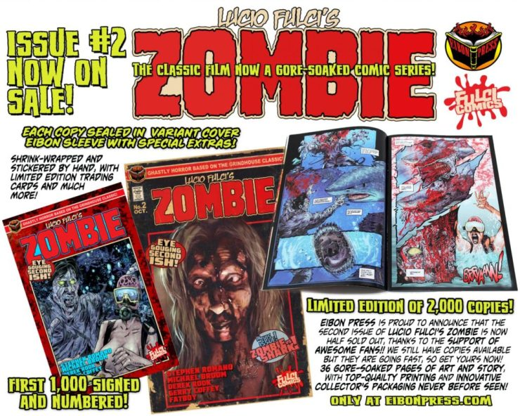 ZOMBIE ISSUE 2 ON SALE min 1024x819 - Lucio Fulci's ZOMBIE #1 Special Edition Comic Ships this Week and MORE!