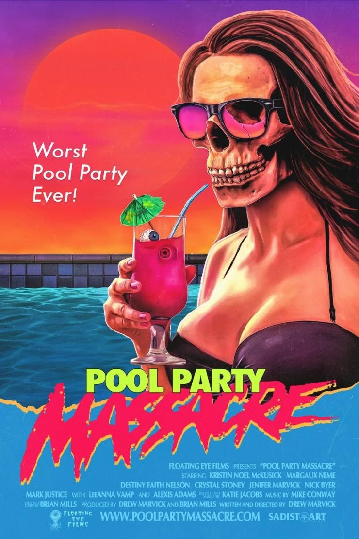 pool party massacre poster - The First Pool Party Massacre Trailer Is a Gleeful Explosion of Blood and Guts