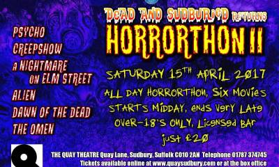 Horrorthon II Dead and SudBuried Returns 1 - Movie Marathon Horrorthon II: Dead and SudBuried Returns Coming to Suffolk Next Month