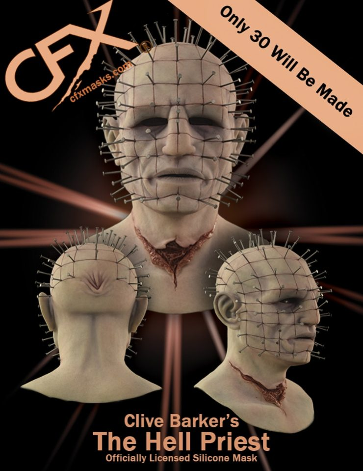 hellpriest mask - Composite Effects Working with Clive Barker on Exclusive Pinhead the Hell Priest Mask!