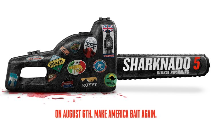 Sharknado 5 Teaser Art - Go International with the Sharknado 5: Global Swarming Teaser Trailer