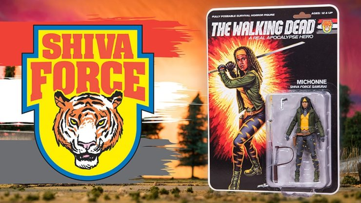 TWD Shiva Force Michonne Character Promos - #SDCC17: The Walking Dead Explodes with Shiva Force Toy Set