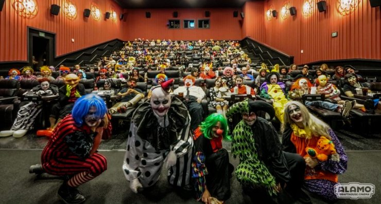 All Clwon screening IT Alamo Cedars 100 - Event Report: Clowns Invade the Alamo Drafthouse for IT