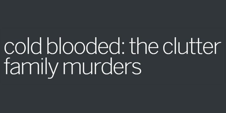 coldblooded clutterfamilymurders - SundanceTV Unveils Chilling Official Trailer for Cold Blooded: The Clutter Family Murders