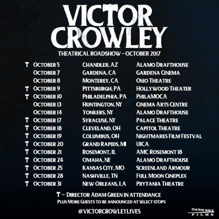 crowleyTour - First Victor Crowley Road Show Dates Arrive; More Cities to be Added Soon!
