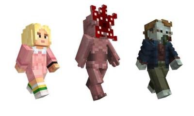 stranger things minecraft 1 1 - Stranger Things Costumes Come to Minecraft