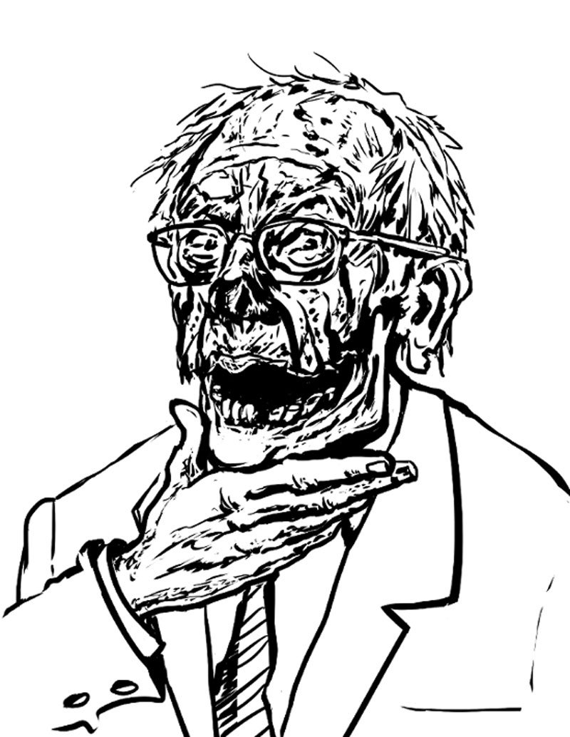 Adult Coloring Book Zombie Politicians Arriving Just in