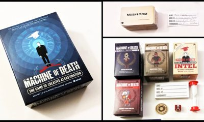 MD featured photo v02 - Machine of Death: The Game of Creative Assassination - Last Meeple Standing Game Overview and Review