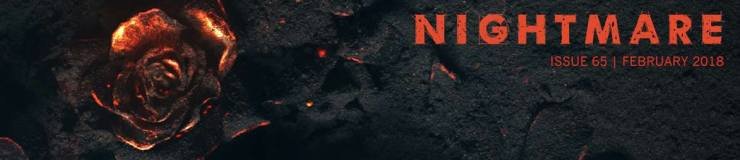 Nightmare 65 February 2018 banner - Nightmare Presents: Six Hangings in the Land of Unkillable Women by Theodore McCombs