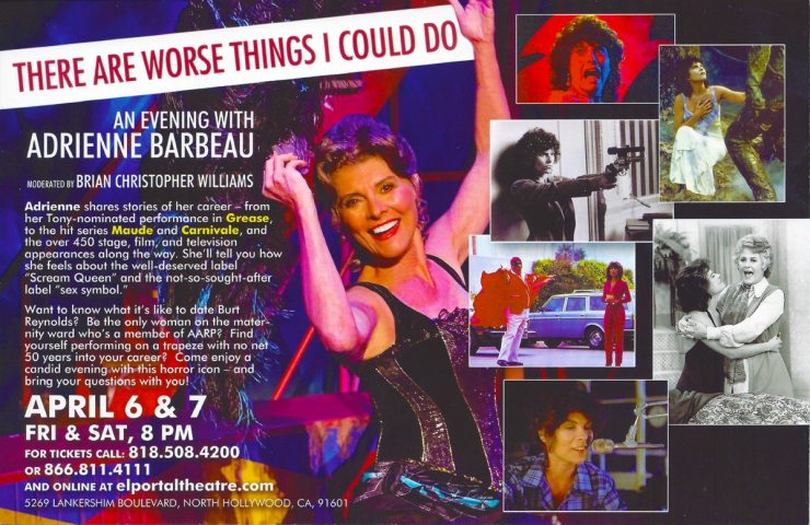 Adrienne Barbeau One Woman Show - Attention Los Angeles: Spend an Evening with Adrienne Barbeau