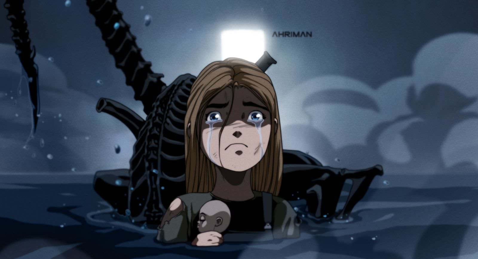 Ahriman ALIENS 2 - Must-See Art: Ahriman Turns Classic Flicks Into Anime!