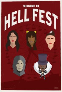 HellFestPoster 203x300 - Exclusive HELL FEST Poster and Clip Bring Urban Legend Terror to the Park