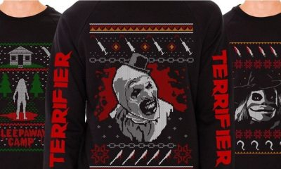 Terror Threads Christmas Sweaters - Terror Threads' Line of Ugly Christmas Sweaters Includes TERRIFIER's Art the Clown