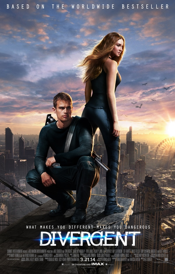 divergent poster final - See the First Divergent Trailer Right Here Right Now!