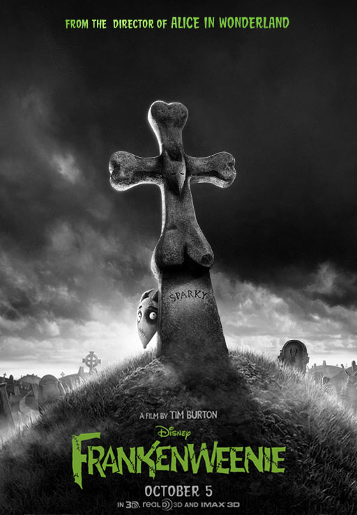 frankenweenie - New International Frankenweenie One-Sheet Barks at the Moon