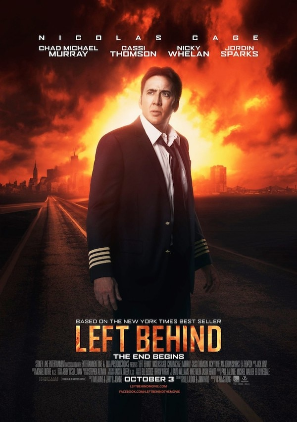 left behind poster 3 - This New Left Behind Poster Finds Nicolas Cage At His Most Pensive