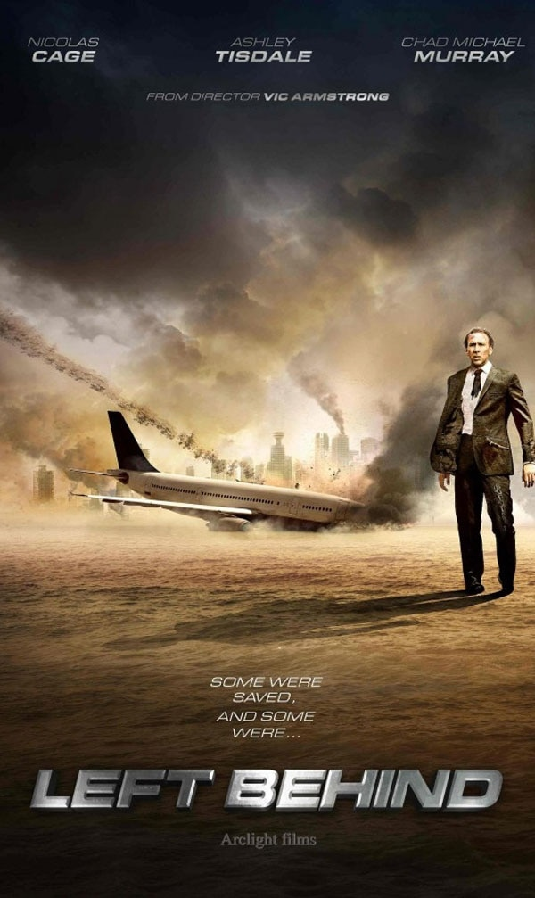 left behind poster - This New Left Behind Poster Finds Nicolas Cage At His Most Pensive