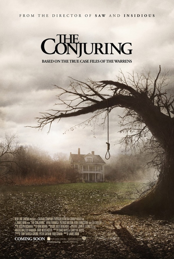 the conjuring poster - Chicago Screening of The Conjuring Comes Complete with a Priest and a Warning!