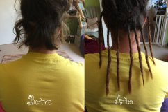 Permanent Synthetic Dread Extender Install