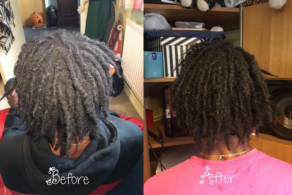 1 - dreadlock deep clean (hair photo)