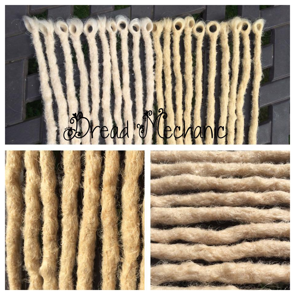 blonde single ended crochet synthetics