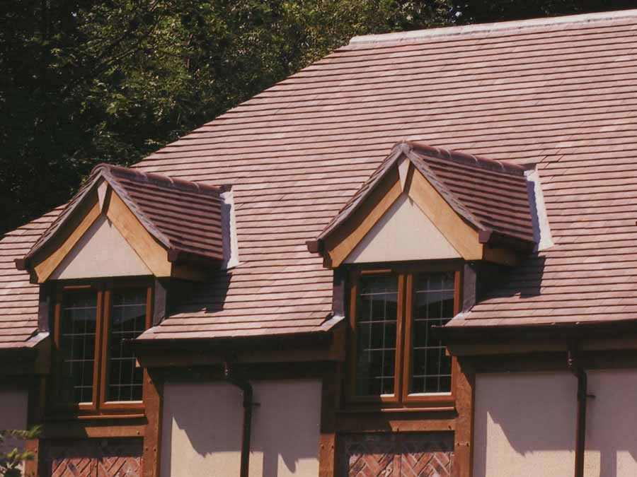 Dreadnought Tiles gallery of brown brindle and brown heather roof tiles