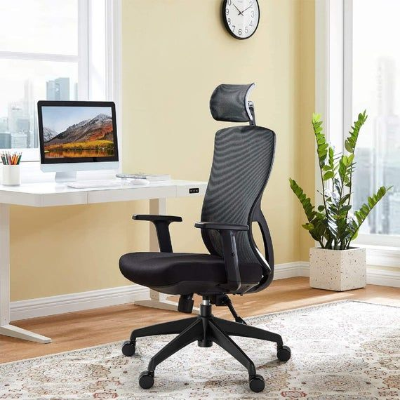Ergonomic Office Chair, Mesh Chair with Lumbar Support, Tribesigns High Back Desk Chair with Breathable Mesh, Adjustable Armrest