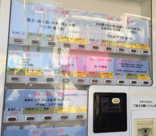 おトク 京阪電車 大和田駅 本屋 切符