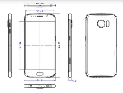 samsung-galaxy-s6-dimensions-schematic-drawing-leak 2