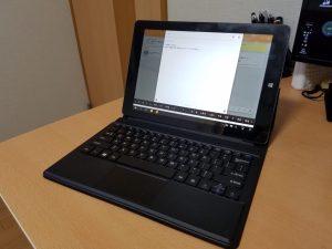 Remix OS搭載のVi10 Plusは専用キーボードを組み合わせると快適さがアップ