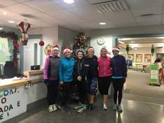 Jolly Joggers jogscotland group at a Christmas session