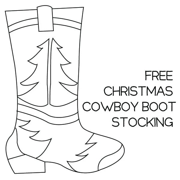 Free Cowboy Boot Christmas Stocking Pattern ⋆ Dream a