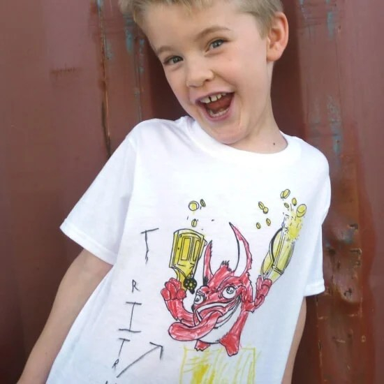 Kids Tee Shirts from Coloring Pages Tutorial  Skylanders