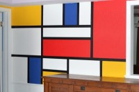 Mondrian Wall Mural Tutorial - Dream a Little Bigger