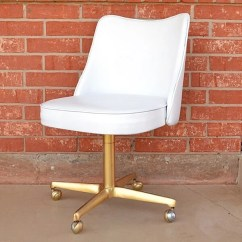 Office Chair Gold By Electric The 3 Makeover Dream A Little Bigger In This Vintage Vinyl Meets Some Paint Because An Absolutely