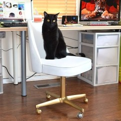 Office Chair Gold Thomas Potty The 3 Makeover Dream A Little Bigger In This Vintage Vinyl Meets Some Paint Because An Absolutely