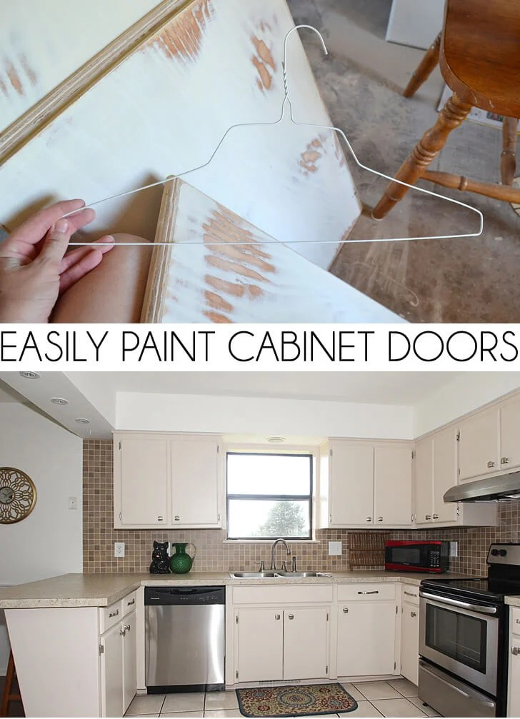 Easily Paint Cabinet Doors DIY Dream A Little Bigger