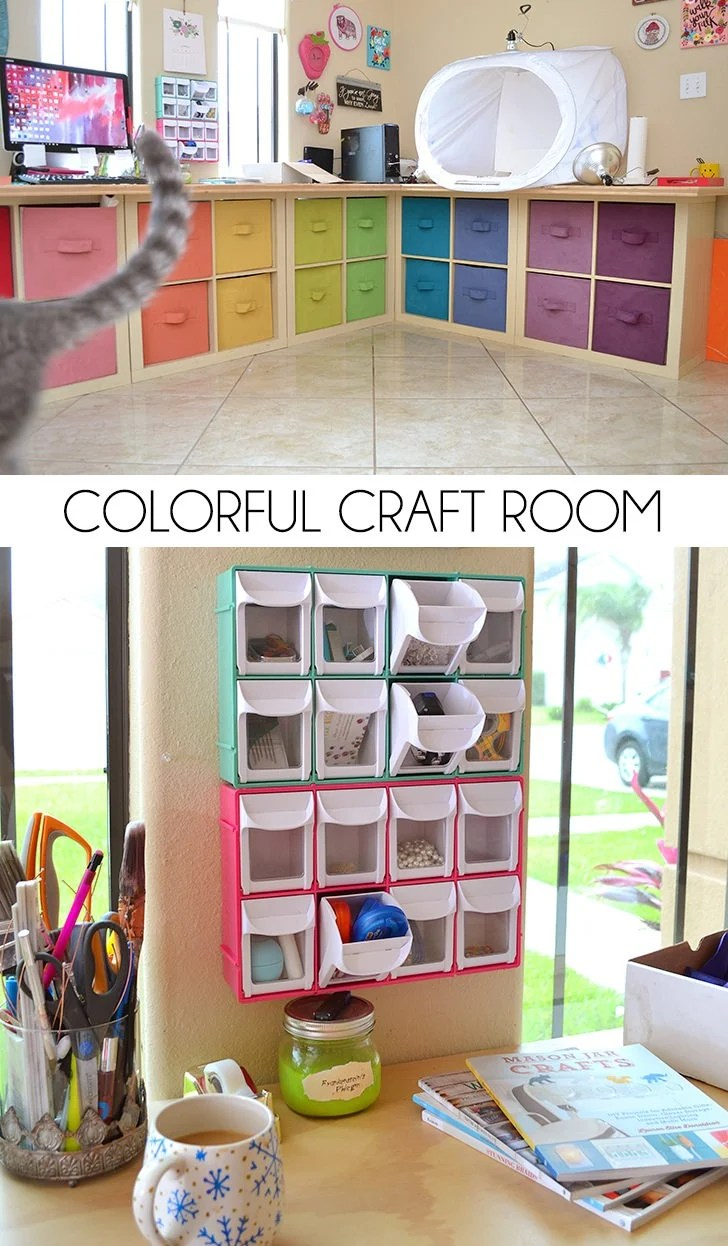 My Colorful Craft Room Storage and Decor  Dream a Little